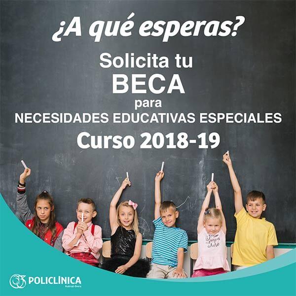 Becas para necesidades educativas especiales. Curso 2018/2019